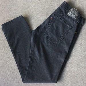 Levi's Skinny 511 Black Jeans 31x30 stretch